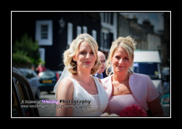 The bride and bridesmaid